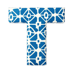 Fabric Letter T Blue