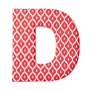 Fabric Letter D Red