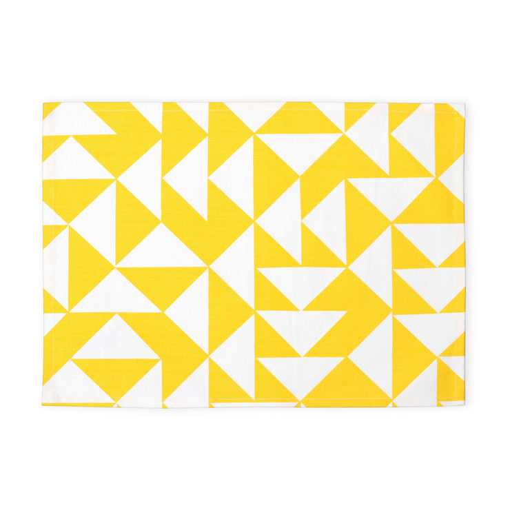 E Placemat Set Of 4 Yellow