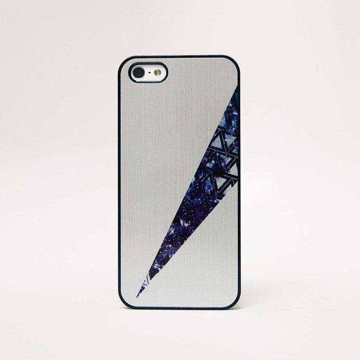 iPhone 5 Case Geo Triangle Silvr