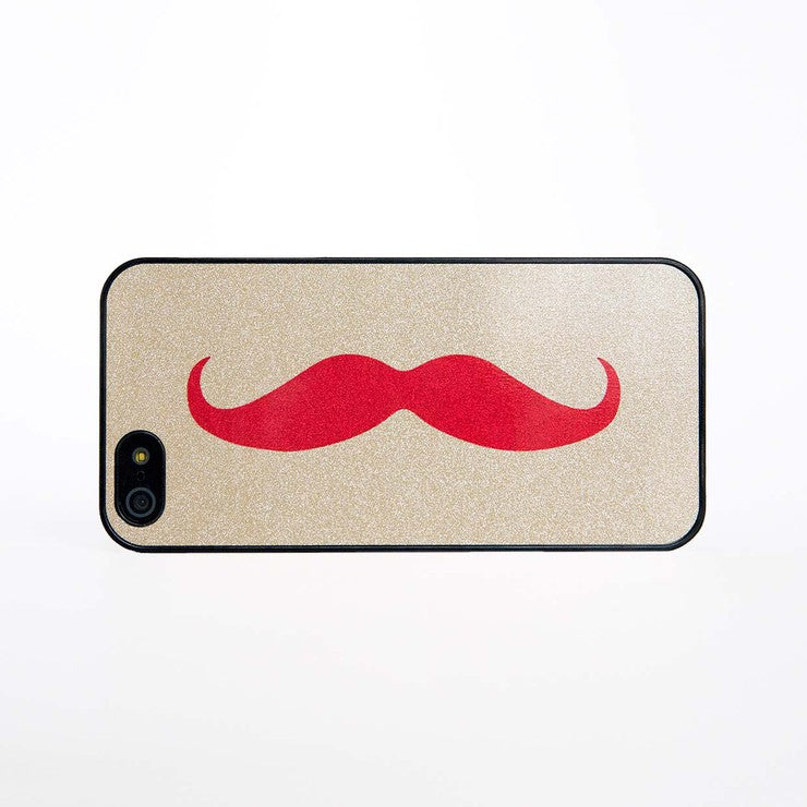 iPhone 5 Case Moustache Red