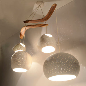 Claylight Boomerang Chandelier