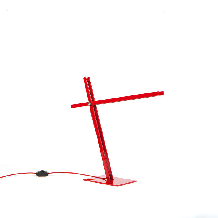 Cantilevered Desk Lamp Red