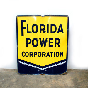 Florida Power Corp Sign