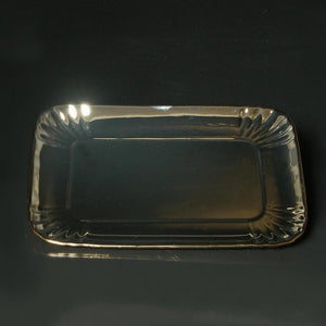 Porcelain Tray Medium Gold