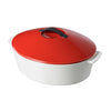 Oval Cocotte 4.75qt Red
