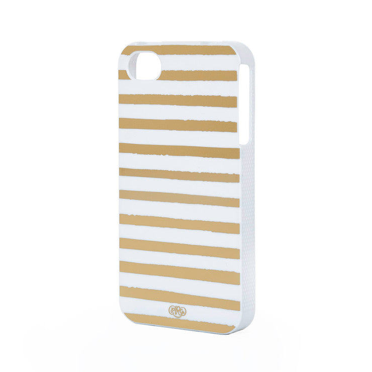 Gold Stripes iPhone 4S Case