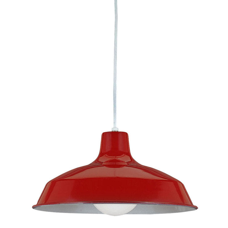 Industrial Pendant Red