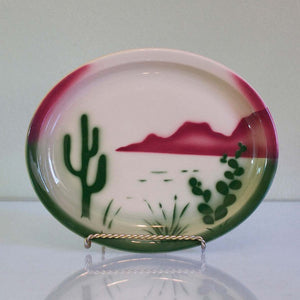 '50s Oval Western Cactus Platter