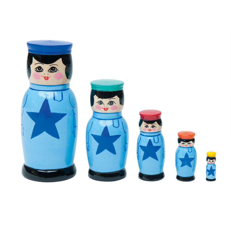 Nesting Doll Blue 5Pc
