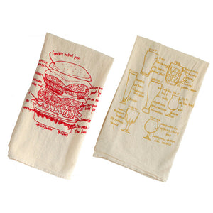Cheeseburger & Beer Towel Set