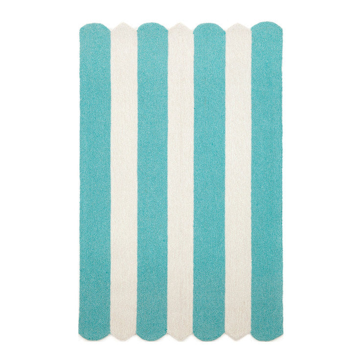 Bold Stripes 5x7'6 Turquoise