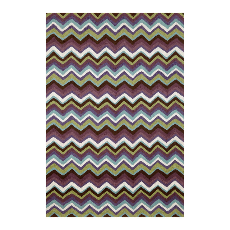 Chevron 5x7'6 Plum