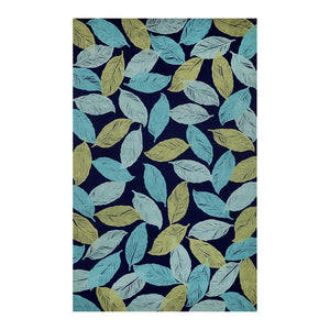 Cut Leaves 5x8 Navy