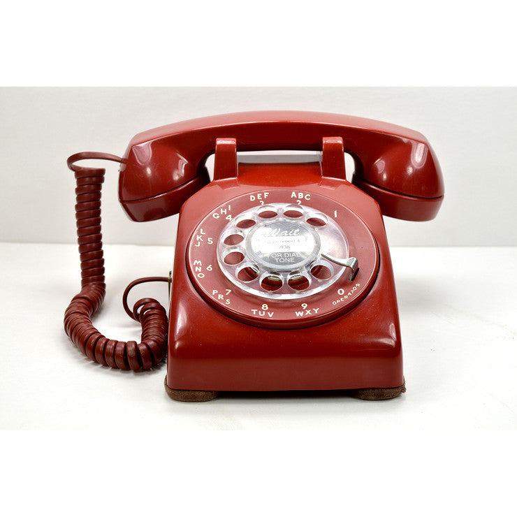 500 Rotary Dial Desk Phone Red