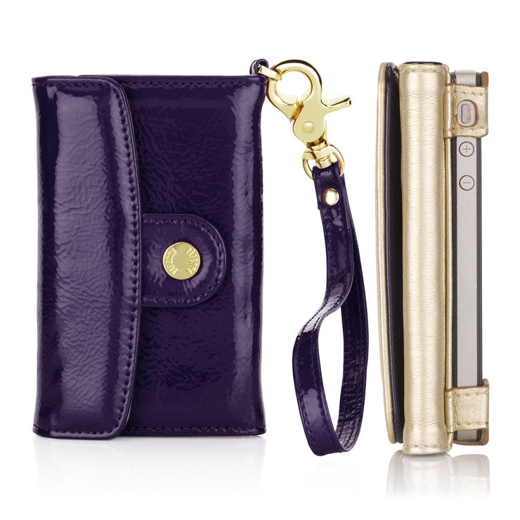 iPhone 4/4S Wallet Purple
