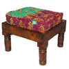 Stool & Floor Pillow Sm Grn Bwn