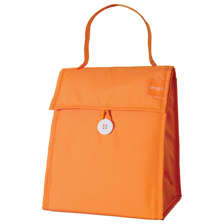 Foldable Lunch Tote Orange 2Pc