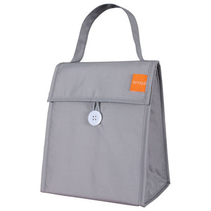 Foldable Lunch Tote Titanium 2Pc