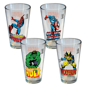 Marvel Retro Pint Set Of 4