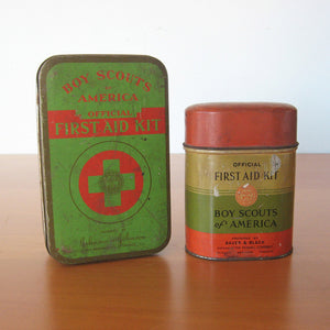 Boy Scouts First Aid Tins Pair
