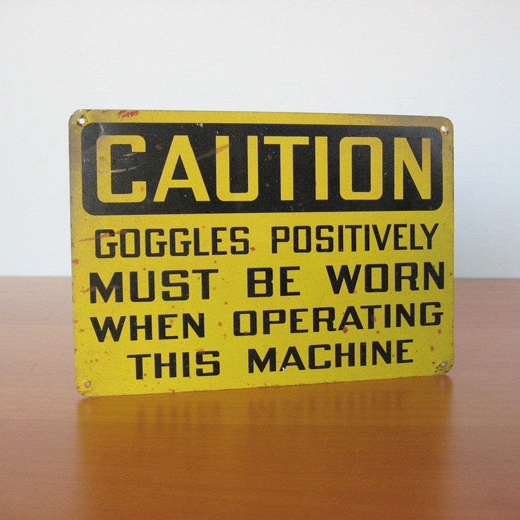 Caution Sign Goggles