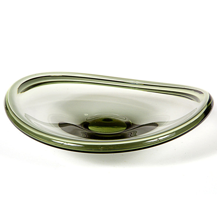 Holmegaard Smoked Glass Bowl