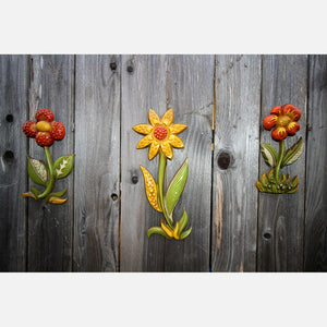 '60s Metal Flower Wall Decor