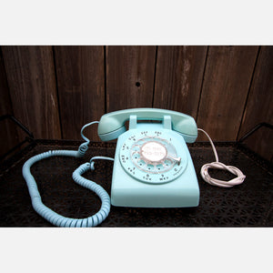 Rotary Telephone Baby Blue