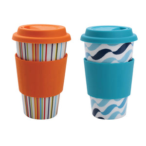 Eco-Cup Stripe & Wave Set