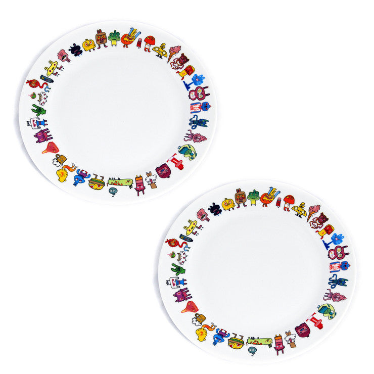 Doodle Plate Large Set Of 2