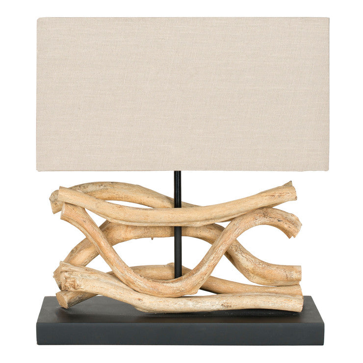 Sculpted Bleached Lamp