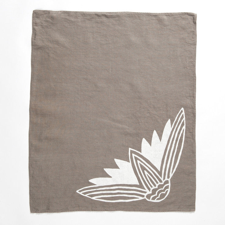 Lotus Hand Towel Stone