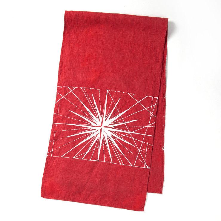 Compass Rose Table Runner Red