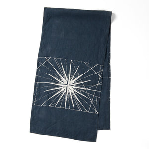 Compass Rose Table Runner Navy