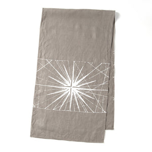 Compass Rose Table Runner Stone