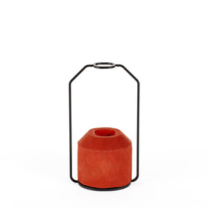 D Weight Vase Red