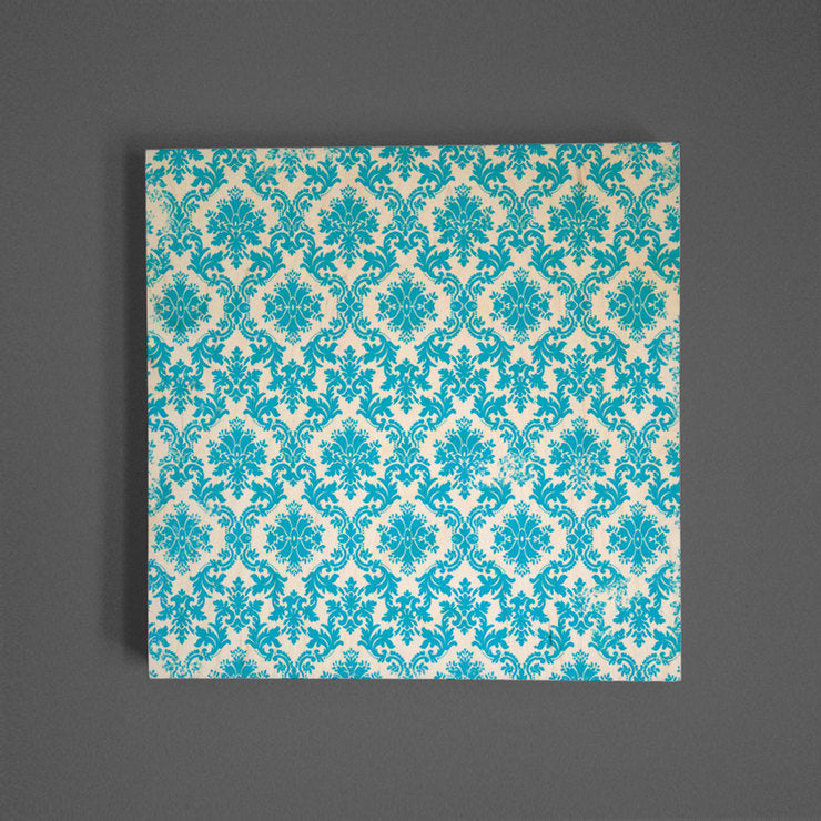 Aqua Baroque Wall Art