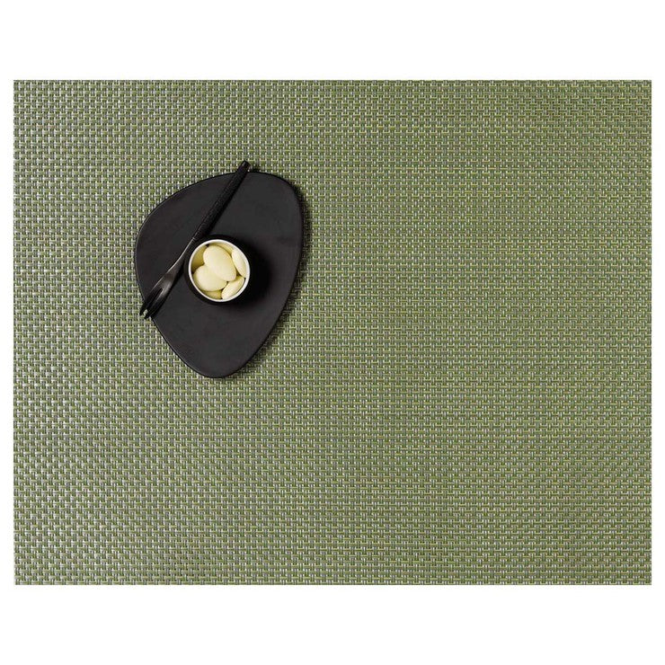 Basketweave Placemat Grass 2Pc