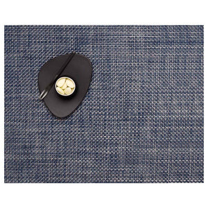 Basketweave Placemat Denim 2Pc