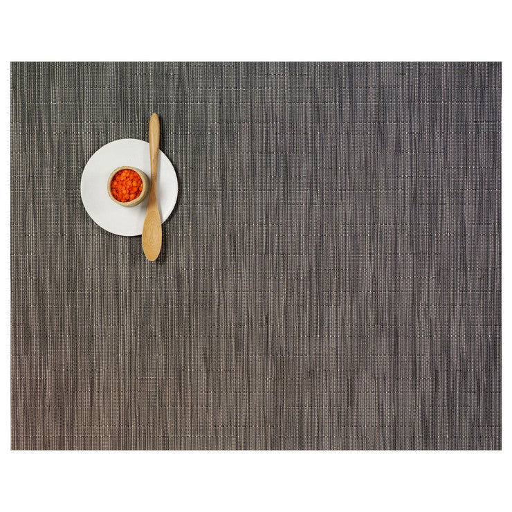 Bamboo Placemat Gray Flannel 2Pc