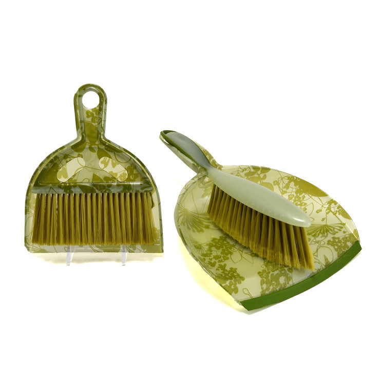Dustpan Set 2Pc Green