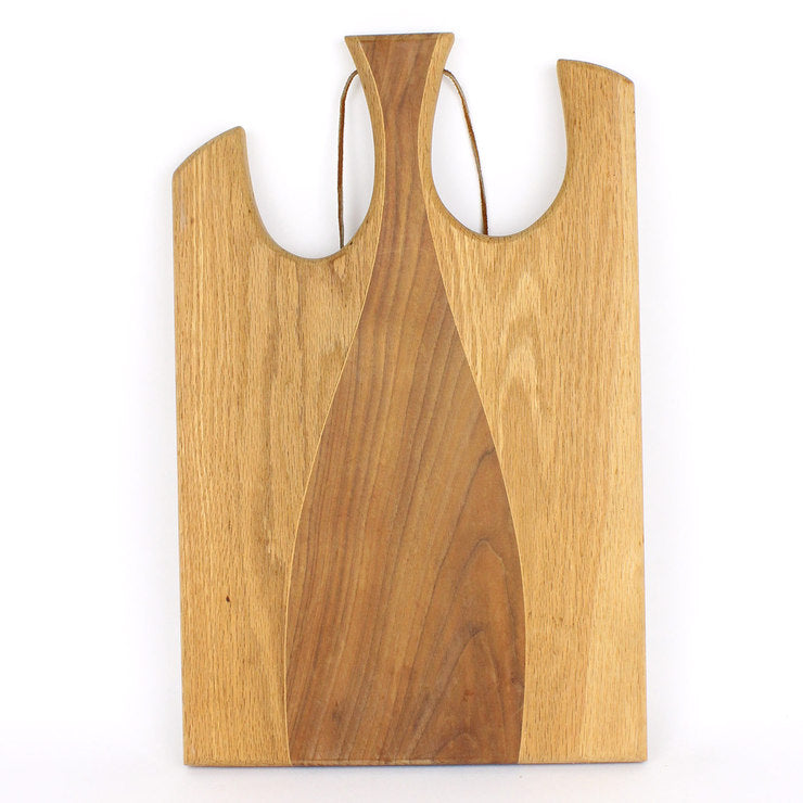 Cutting Board With Leather Strap