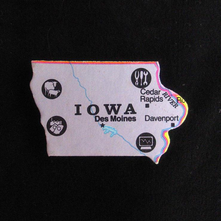 Iowa Magnet Purple