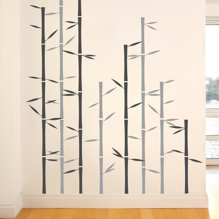 Bamboo Decal Gray