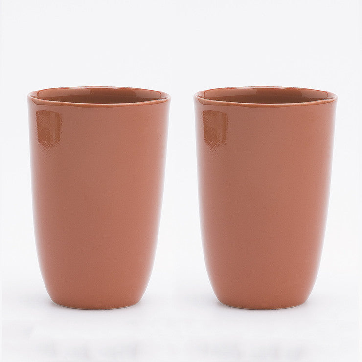 B-Set Cups Porcelain Lg Red