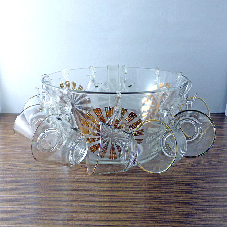 Flower Punch Bowl Set