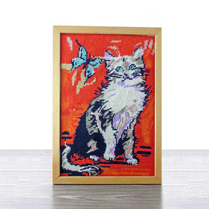 Needlepoint Kitty Cat