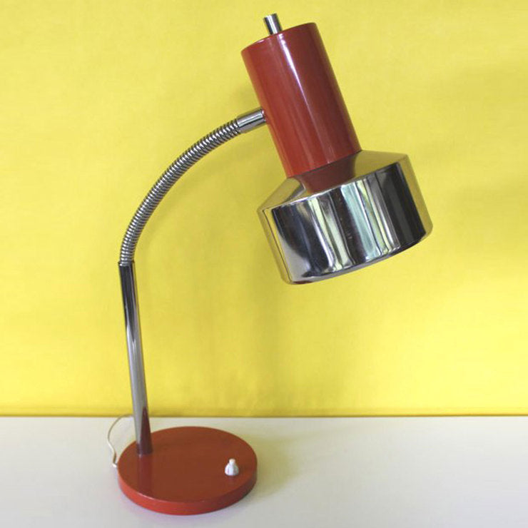 Desk Lamp Orange Chrome