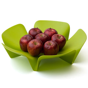 Flower Fruit Tray Lg Green 2Pk